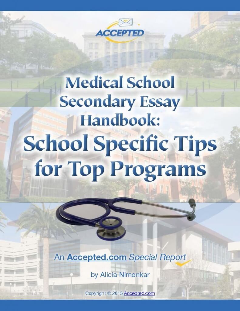 Download the Medical School Secondary Essay Handbook now!