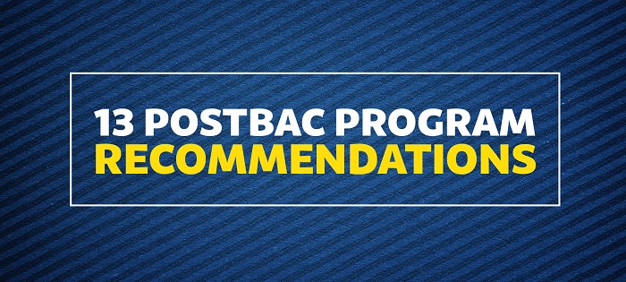 13 Postbac Program Recommendations