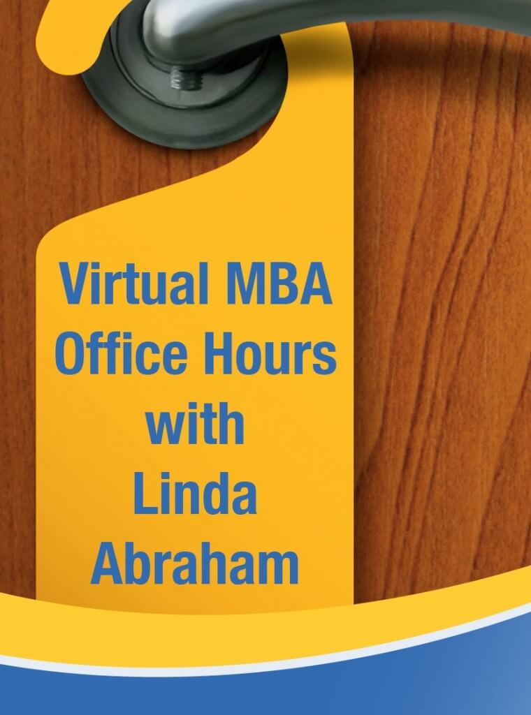 Join Linda's Virtual MBA Office Hours on Dec 30!