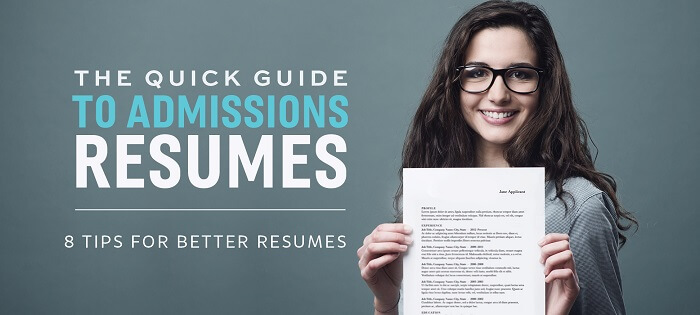 Download the Free Guide Here to Craft a Killer Admissions Resume!