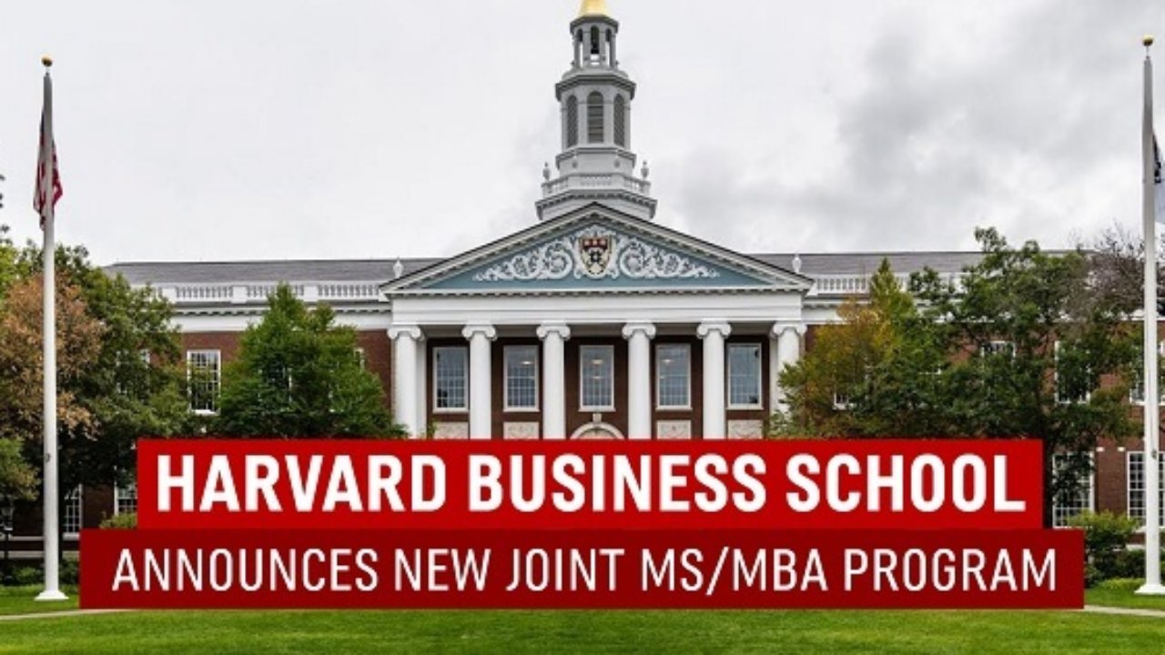New Joint MS/MBA Program at Harvard