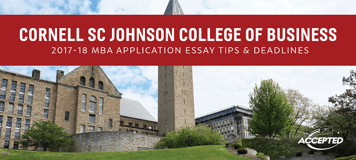 Mba admission essays services cornell