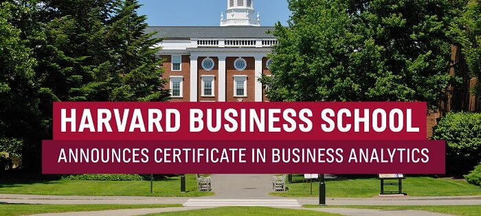 Harvard Business School Announces Certificate in Business Analytics