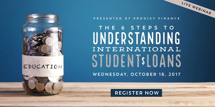 Register for the webinar here to understand how to obtain an international student loan.