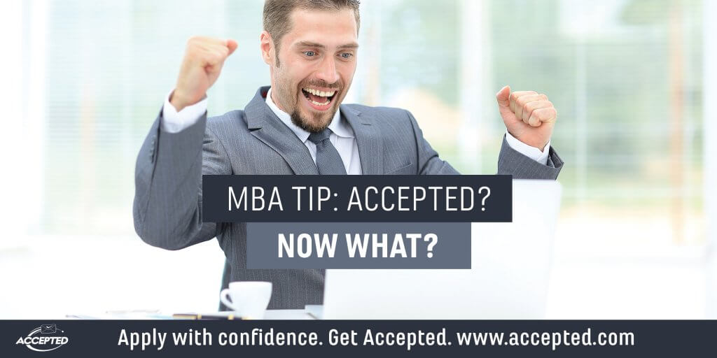 MBA tip- Accepted now what