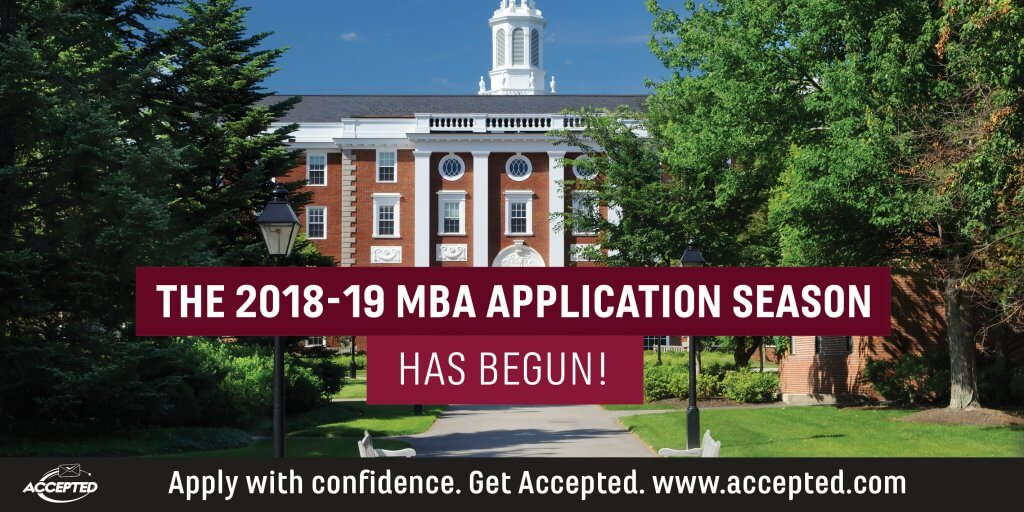 The 2018-19 MBA Application Season Has Begun!