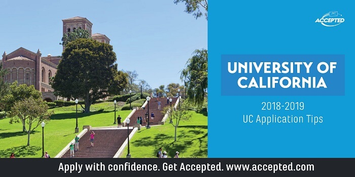 University of California 2018-19 UC Application Tips