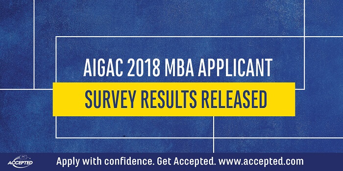 AIGAC 2018 MBA Applicant Survey Results Released