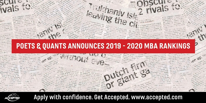 Poets and Quants Announces 2019-20 MBA Rankings