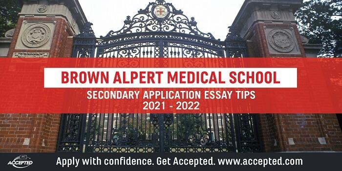 Brown Alpert Secondary Essay Tips & Deadlines